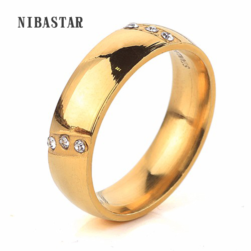 2016 Classic Tungsten Carbide Ring Elegant Gold Color Pave