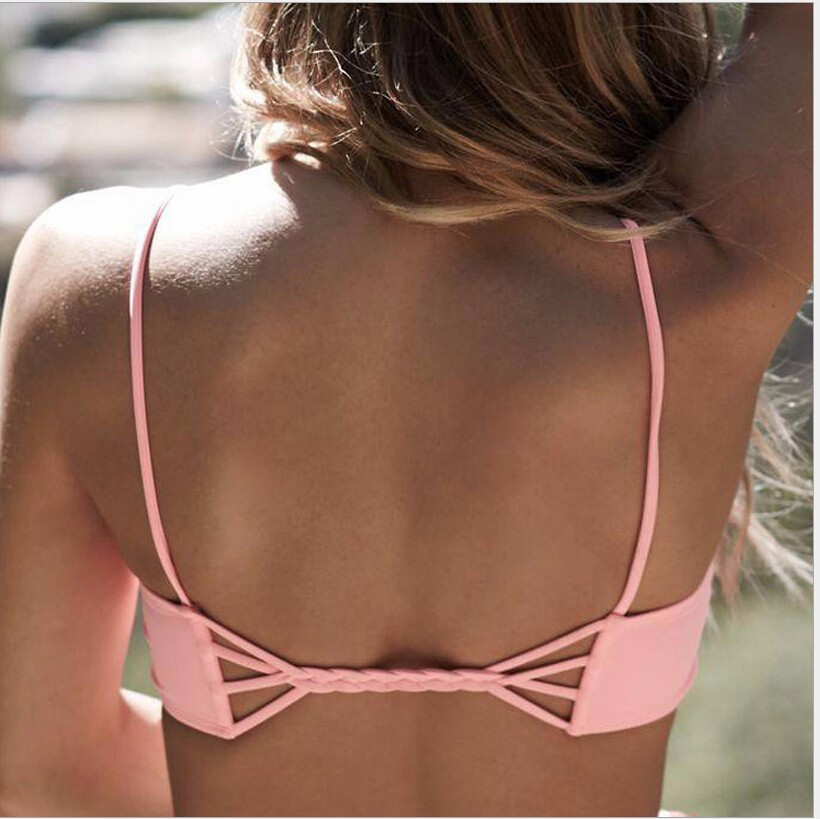 f2bf3c10d98 Sexy Bikinis 2016 Swimwear Women Bandage Swimsuit Strappy Bikini Cheap  Black Bikini Thong Bikini Bodysuit Backness-in Bikinis Set from Sports ...