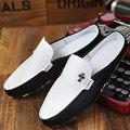 AD AcolorDay 2017 Nueva Llegada de Los Hombres Blancos Holgazanes Diseñador de la Primavera luz Suave de Los Hombres Zapatos Del Barco Pisos de Lujo Hombres Libres del Envío zapatos