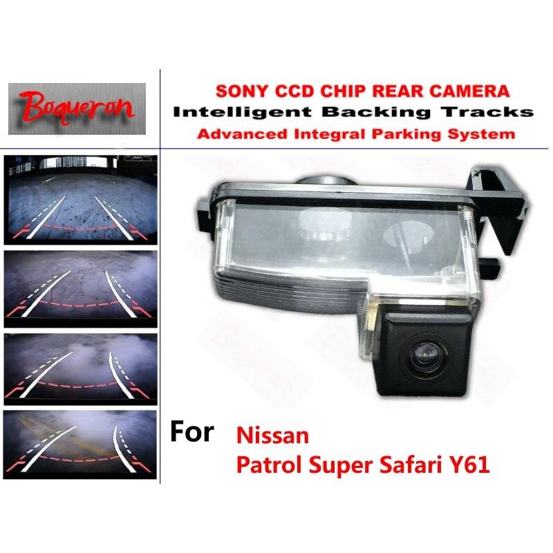 for Nissan Patrol Super Safari Y61 CCD Car Backup Parking Camera Intelligent Tracks Dynamic Guidance Rear