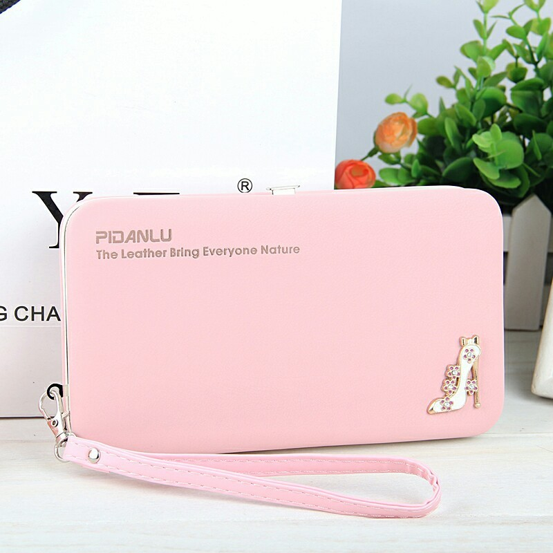 Easy Sweet Temperament Womens Long Purses Iron Edge Hand Rope Mobile Phone Bit Coin Purses Credit Cards Holders Clutch Wallets