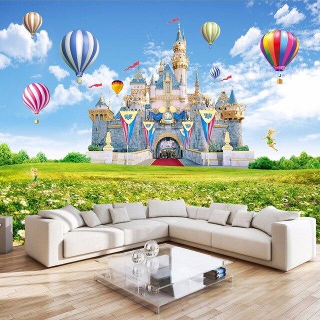 Benutzerdefinierte 3D Fototapete Kinder Schloss HD Landschaft ...