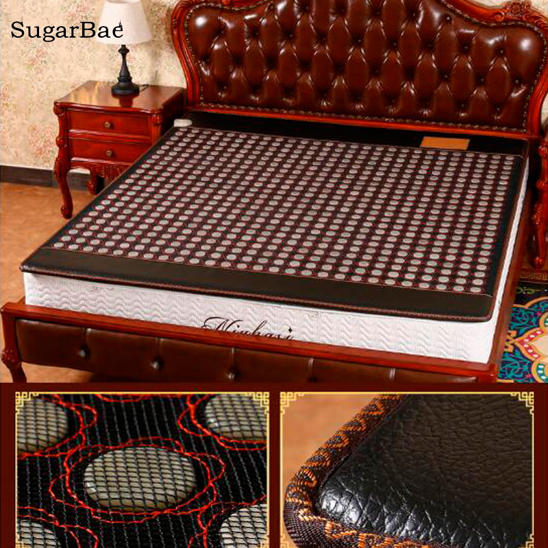 Electric Heating Jade Bed Mattress Tourmaline Physical Therapy Cushion Health Care Mat Free Shipping natural thermal massage bed jade tourmaline health care germanium electric heating sleeping physical therapy mat 1 2x1 9m