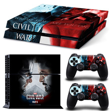 Captain America Decal Cover PS4 Skin Stickers For Sony PlayStation 4 Console Sticker & 2 Controller Skins PS4 Accessories