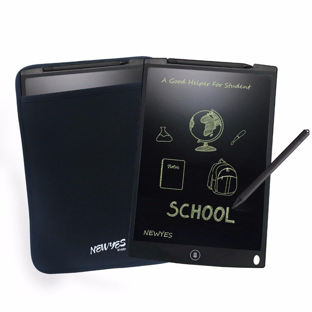 Newyes Noir 12 LCD Tablette eWriter Écriture Planche à Dessin Tableau Blanc Babillard avec Manches Cas Livraison Gratuite