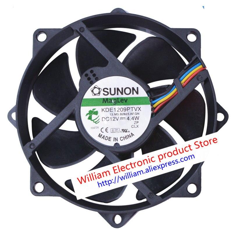 New Original SUNON KDE1209PTVX DC12V 4.4W 4Lines 92*92*25MM Computer cooling fan