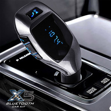 BGreen Car Use Bluetooth MP3 Player Support SD Card U Disk FM Radio Phone Call With USB Microphone