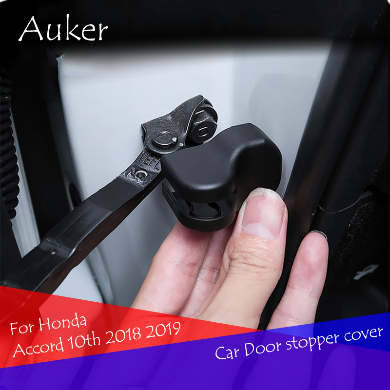 Car Styling Door Stop Cover Exterior Car Door Stopper Protection Cover Auto <font><b>Accessories</b></font> Parts For <font><b>Honda</b></font> <font><b>Accord</b></font> 10th <font><b>2018</b></font> 2019 image