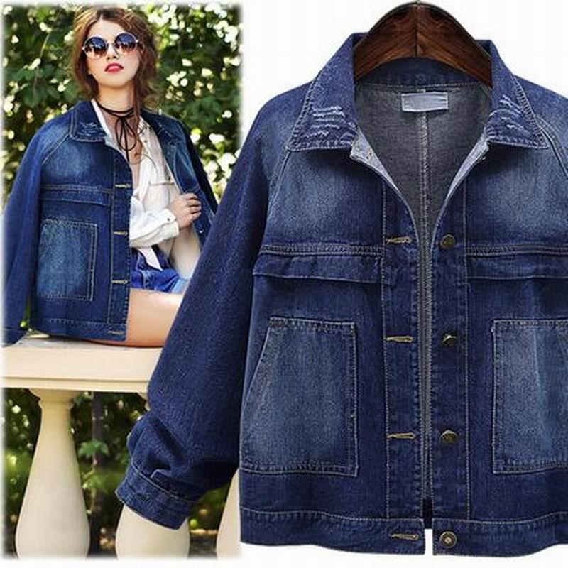 Popular Plus Size Denim Jackets Clothing-Buy Cheap Plus Size Denim