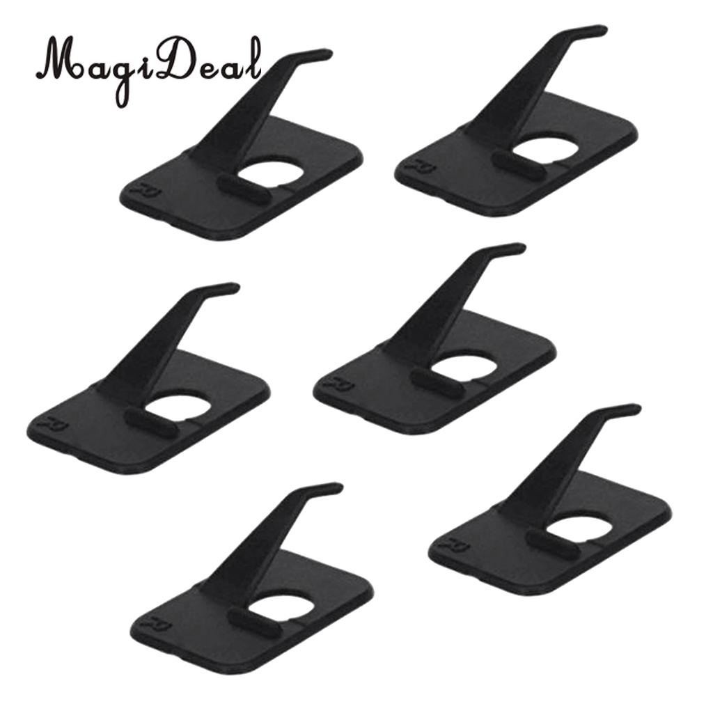 MagiDeal Professional 6Pcs Shooting Hunting Archery Recurve Bow Plastic Adhesive Arrow Rest Right Hand 3 x 2 x 1cm Black 3 1cm huge