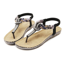 Ladies Thong Sandals Diamond Beads Slippers