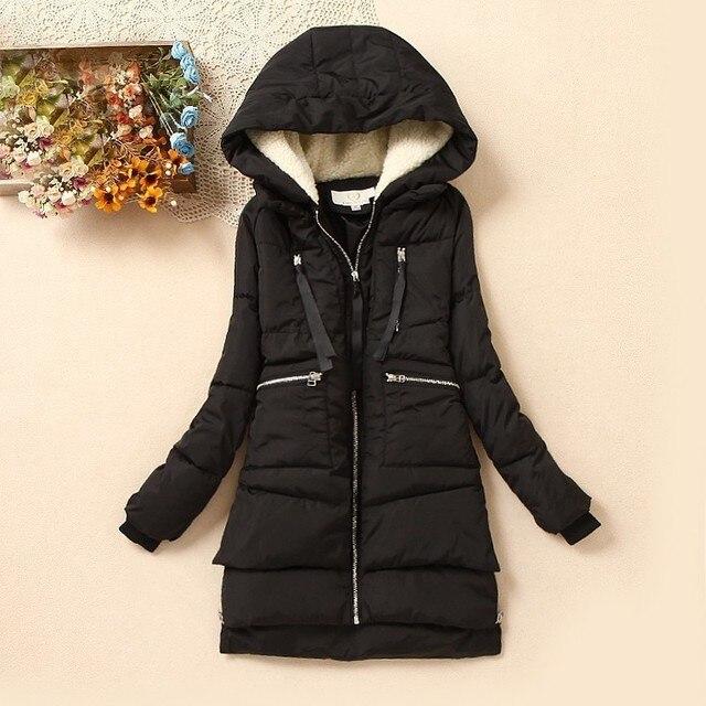 Winter Women Wadded Jacket Female Outerwear Plus Size 5XL Thickening Casual Cotton Wadded Coat Women Parkas Campera Abrigo DM013