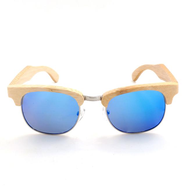 Brand Design European Wind Restoring Ancient Ways Sunglasses Women Wen Bamboo Wood Handmade Sun Glasses Vintage G026