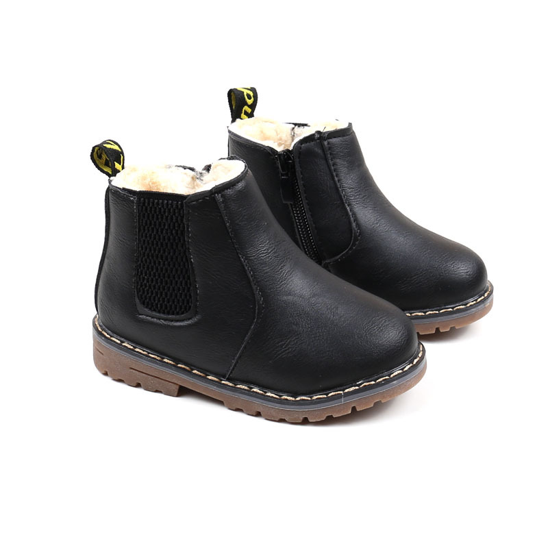 JACKSHIBO New Winter Kids Snow Boots Children 39 s Winter Ankle Winter Girl Boots Fur Unisex PU Leather Shoes for kids Snow Shoes in Boots from Mother amp Kids