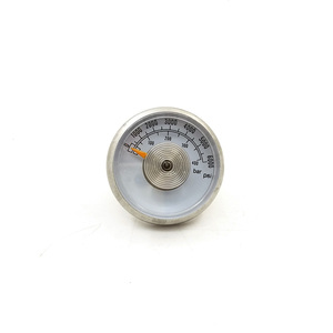 Image 1 - 36mm Paintball Airgun Rifle Pressure Gauge Manometre Manometer For Refill Station 400bar/6000psi and 5000psi 1/8NPT Threads