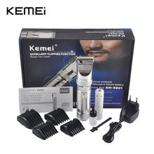 kemei KM-9801 Hair Clipper Aluminum Alloy Rechargeable Electric Hair Trimmer Hair Removal Hair Cutting Machine for Man Children