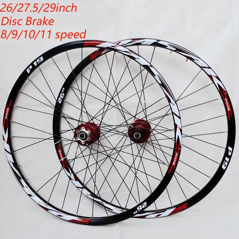 "26'' 29"" 27.5"" 32Holes Disc Brake Mountain Bike Wheels  MTB Bicycle Wheels front 2 rear 4 sealed bearings"