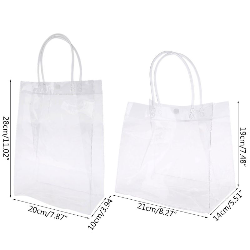 Clear Tote Bag Handbag With Handle Wedding Party Favors Makeup Packaging Bags