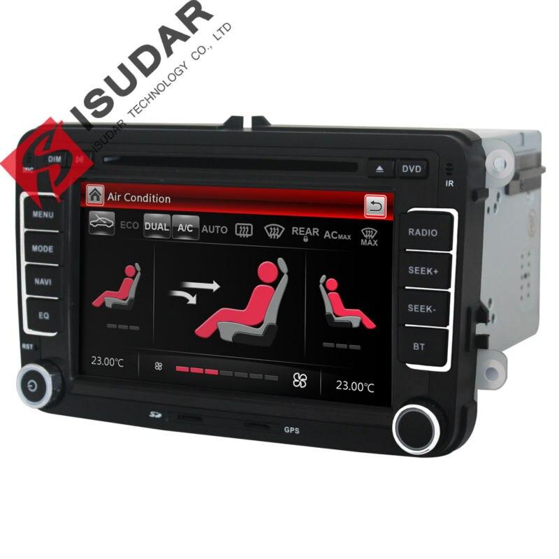 Lecteur Multimédia de Voiture Isudar 2 din DVD de voiture pour VW/Volkswagen/Golf/Polo/Tiguan/Passat/b7/b6/SEAT/leon/Skoda/Octavia Radio GPS DAB - 6