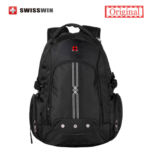 Swisswin Brand Backpack Men School Backpack For Teenage Boys Black Schoolbag Male Laptop Backpack Back To School Bag Bookbag