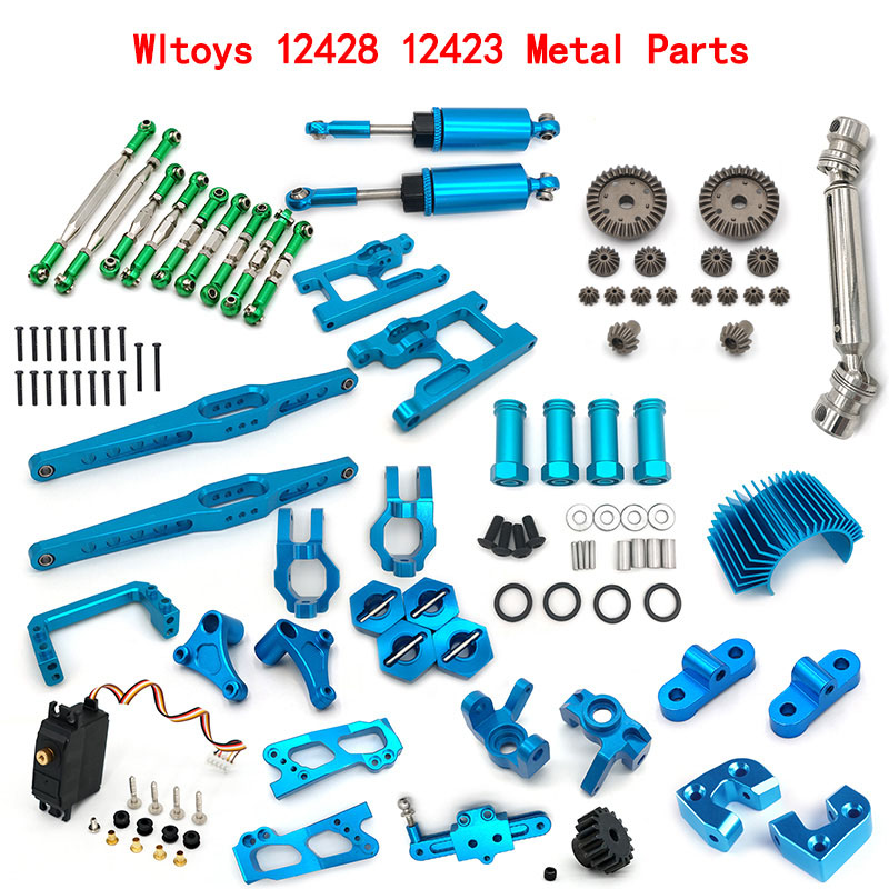 Metal Parts For wltoys 12428 12423 RC Car Upgrade Parts RC truck Metal Set Accessories tire Metal differential Wave box(China)