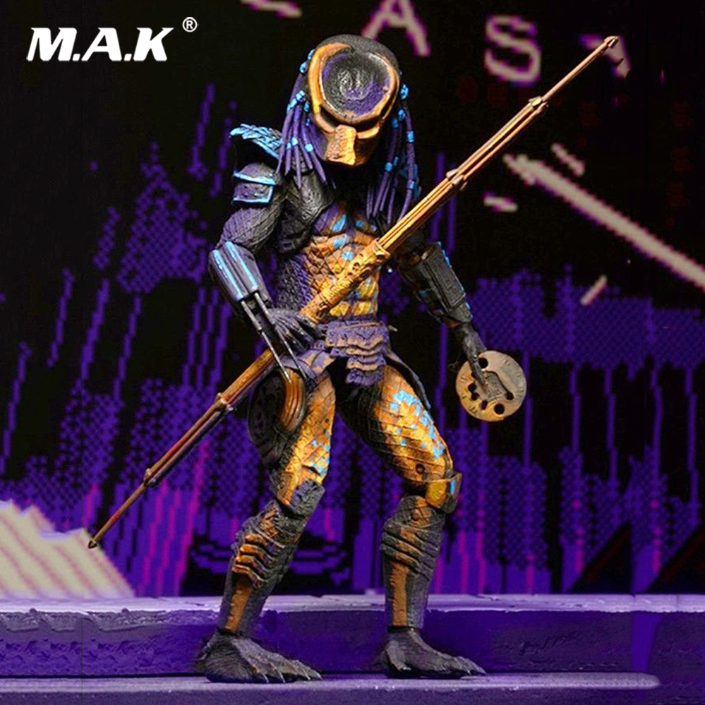 with Box 18cm Anime action figure Predator City Hunter Classic NECA Model Toy Gift 7 Inches PVC Action Figure free shipping neca official 1979 movie classic original alien pvc action figure collectible toy doll 7 18cm mvfg035