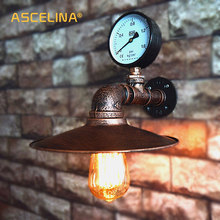 Lámparas de pared de estilo Industrial hechas a mano de hierro forjado dormitorio restaurante comedor accesorios de cocina iluminación de pared para pasillo café