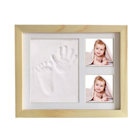 2018 Hot Selling Blue footprints Baby Hand Foot Print And stamp pad ink leave footprints Baby Souvenirs Blue footprints