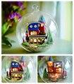 Бесплатная Доставка Сборка DIY Миниатюрный Комплект Модель Деревянная Кукла Дом/Мини Деревянные Игрушки Миниатюрные casa de boneca-весело замок