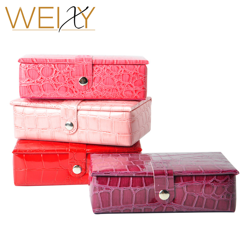 2017 New 4 Colors Fashion Vintage Style Jewelry Box Multideck Storage Cases loss sale jewel case for gift