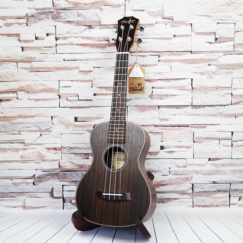 SevenAngel 26 pouces ténor acoustique ukulélé tout palissandre hawaïen 4 cordes guitare électrique Ukelele avec micro EQ AQUILA String - 4