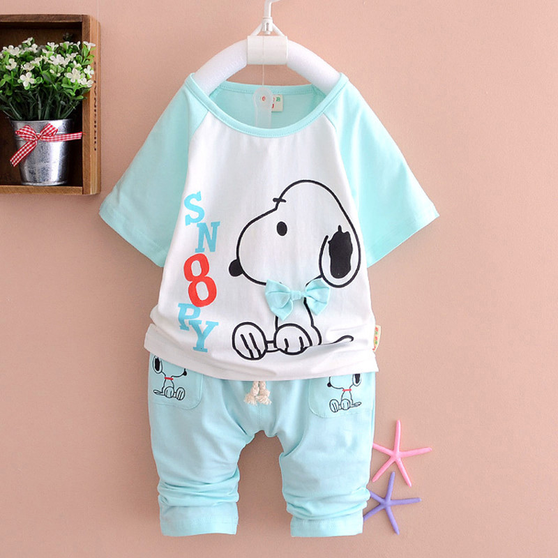 Baby clothing set Summer 2017 on sale good quality boys clothes fashion style cotton boys sets 0-3 years old A217