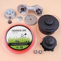 Grass Trimmer Head Nylon Rope Gearhead Kit Fit STIHL FS120 FS130 FS250 FS200 FS120R FS130R FS200R FS250R Strimmer Brush Cutter