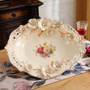 European fruit set ceramic fruit plate Home Furnishing modern decor decoration luxury living room coffee table size