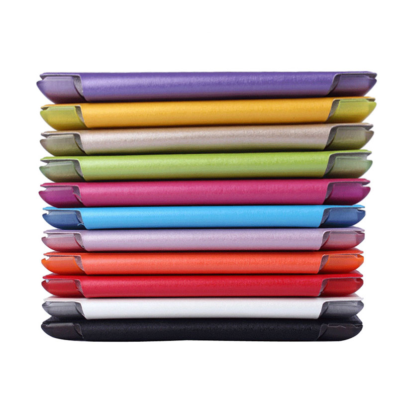 Smart Tablets Case For iPad 5 6 8 9 7 Inch Silk Print Tri folded Smart Wake Sleep PU Cover PC Cases For iPad 9 7 2017 2018 Case in Tablets e Books Case from Computer Office