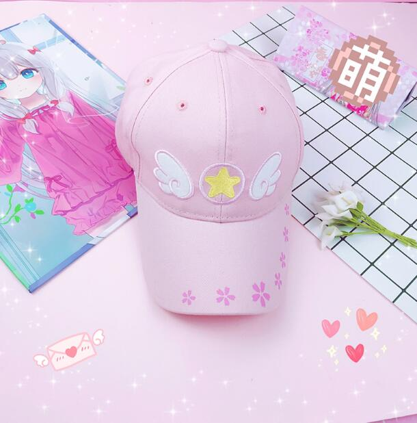 Card Captor Sakura KINOMOTO SAKURA LI SYAORAN DAIDOUJI TOMOYO lolita Cap Women Snapback Hat Casual Fashion Cap Adjustal