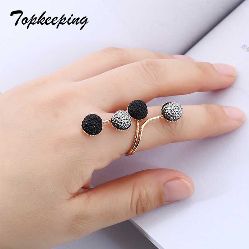 Topkeeping Brand Women Fashion Jewelry Ladies Hyperbole Romantic Exquisite Vintage Rings Simple Casual Girls Party Finger Rings
