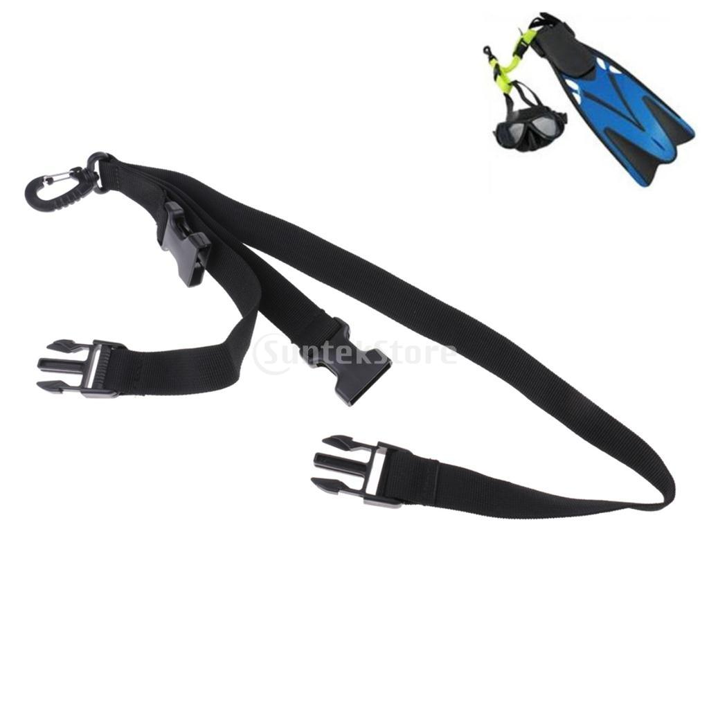 Scuba Diving Dive Diver Fin And Mask Keeper Webbing Holder Strap Lanyard Double Loop With Quick Release Buckle, Swivel Clip