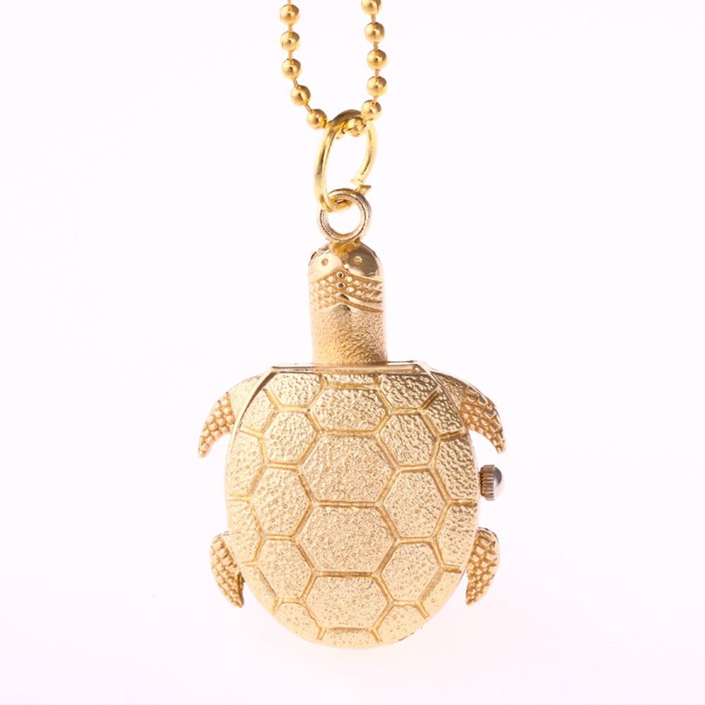 Women Men Pocket Watch Turtle Shape Unisex Antique Case Chain Quartz Pocket Watch  Reloj De Bolsillo Zakhorloge Relgio De Bolso