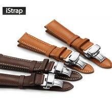 Istrap высокого качества ремешок для часов 18 мм 19 мм 20 мм 21 мм 22 мм часы ремешок с пряжкой развертывания для OMEGA Tissot Seiko Casio