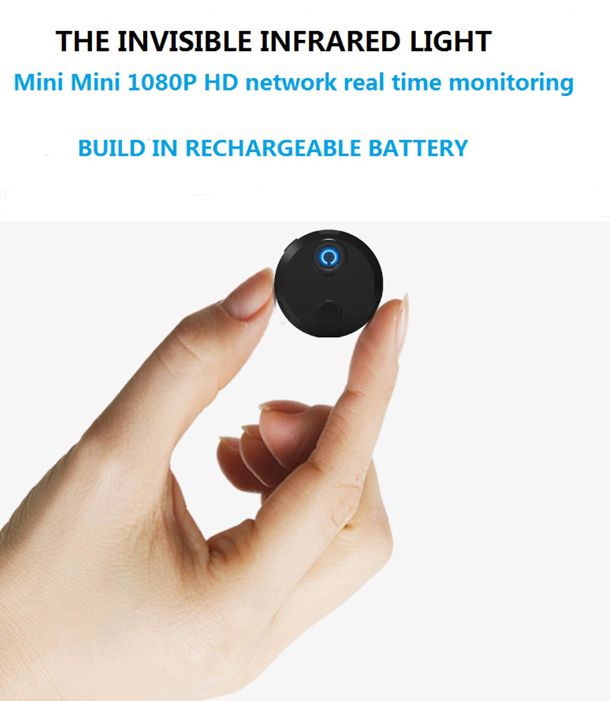 Здесь продается  Wifi wireless infrared round mini camera 1080P wide-angle 150 degree invisible video recording camera as easy to carry as a coin  Бытовая электроника