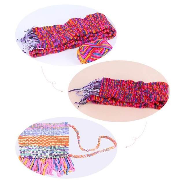 Online Shop Diy Scarf Knitting Machine Knitting Loom Knit Kits Craft