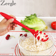 Spoon Pasta-Scoop Spaghetti Spatula Cookware-Noodles Heat-Resistant Silicone Zeegle Colander