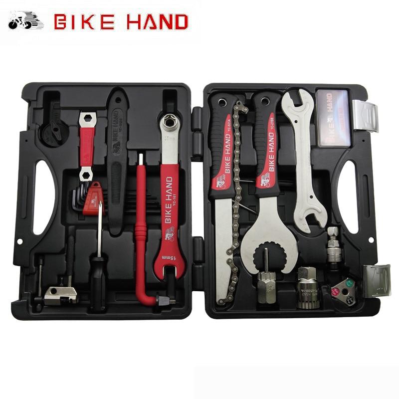 BIKEHAND 18 Dans 1 Multiful Vélo Outils Kit Portable Boîte à Outils De Réparation De Vélos Set Hex Clé Clé Remover Extracteur Manivelle vélo Outils