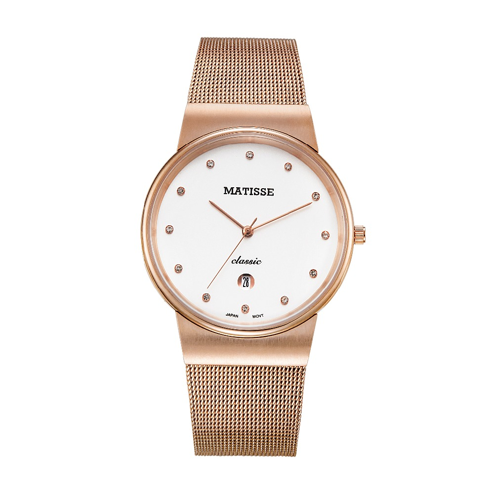 MATISSE Ultrathin Case Women Lady Quartz Watch Wristwatch With Austria Crystal henri matisse drawing with scissors masterpieces from the late years