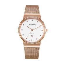 MATISSE Ultrathin Case Women Lady Quartz Watch Wristwatch With Austria Crystal