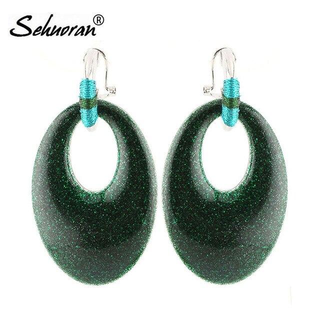 Sehuoran Hoop Earrings Resin Pendants European Eco Friendly For Women Gifts