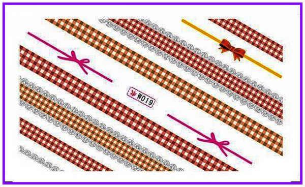 بريق مسحوق مسمار الوشم ملصق مائي لصائق مسمار الفن ربطة القوس فيونكة عقدة الدانتيل أسود أبيض ابتسامة خط W19-24