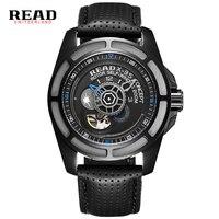 2016 읽기 최고 브랜드 시계 menwatches 남성 육군 시계 스틸 스포츠 군사 남성 손목 시계 블랙 자동 기계 운동