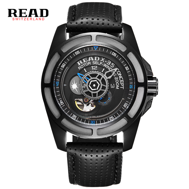 2016 READ Top Brand Watch MenWatches Men Army Watches Steel Sport Military Men Wristwatch Black Automatic